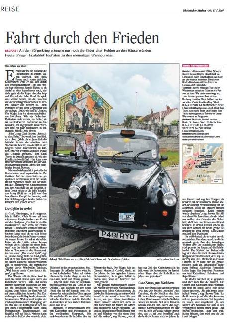 Belfast: Fahrt durch den Frieden