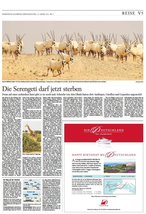 Abu Dhabi: Die Serengeti darf jetzt sterben