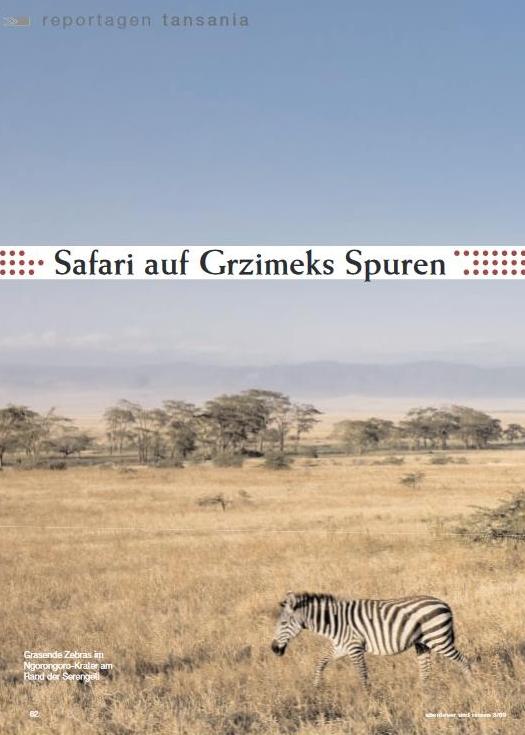 Tansania: Safari auf Grzimeks Spuren