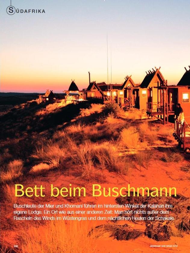 Südafrika: Bett beim Buschmann